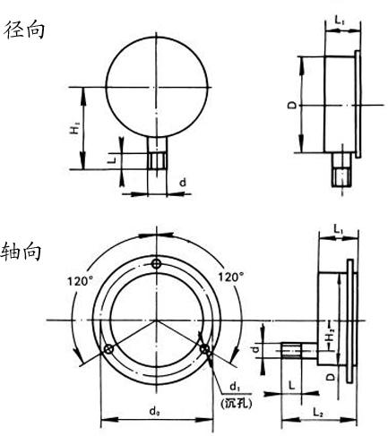 Y-B系列尺寸图
